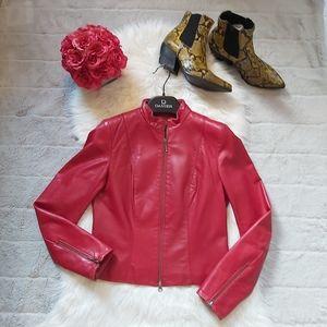 Danier Red Leather Jacket Blazer